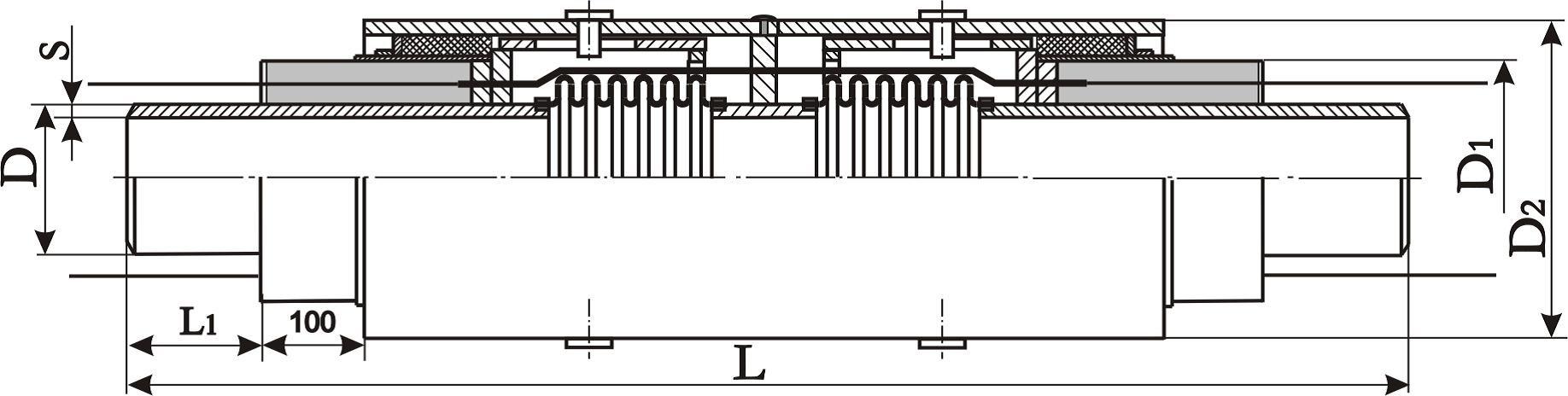 конструкция сильфонного компенсаторы